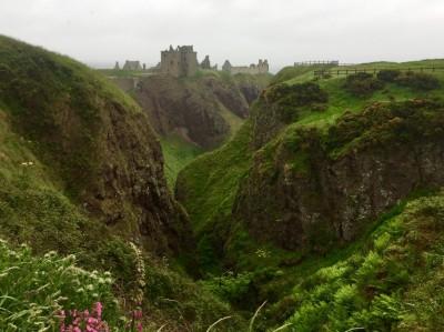 Château d'Écosse sous la brume