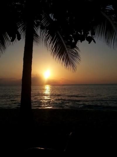 Doux coucher de soleil