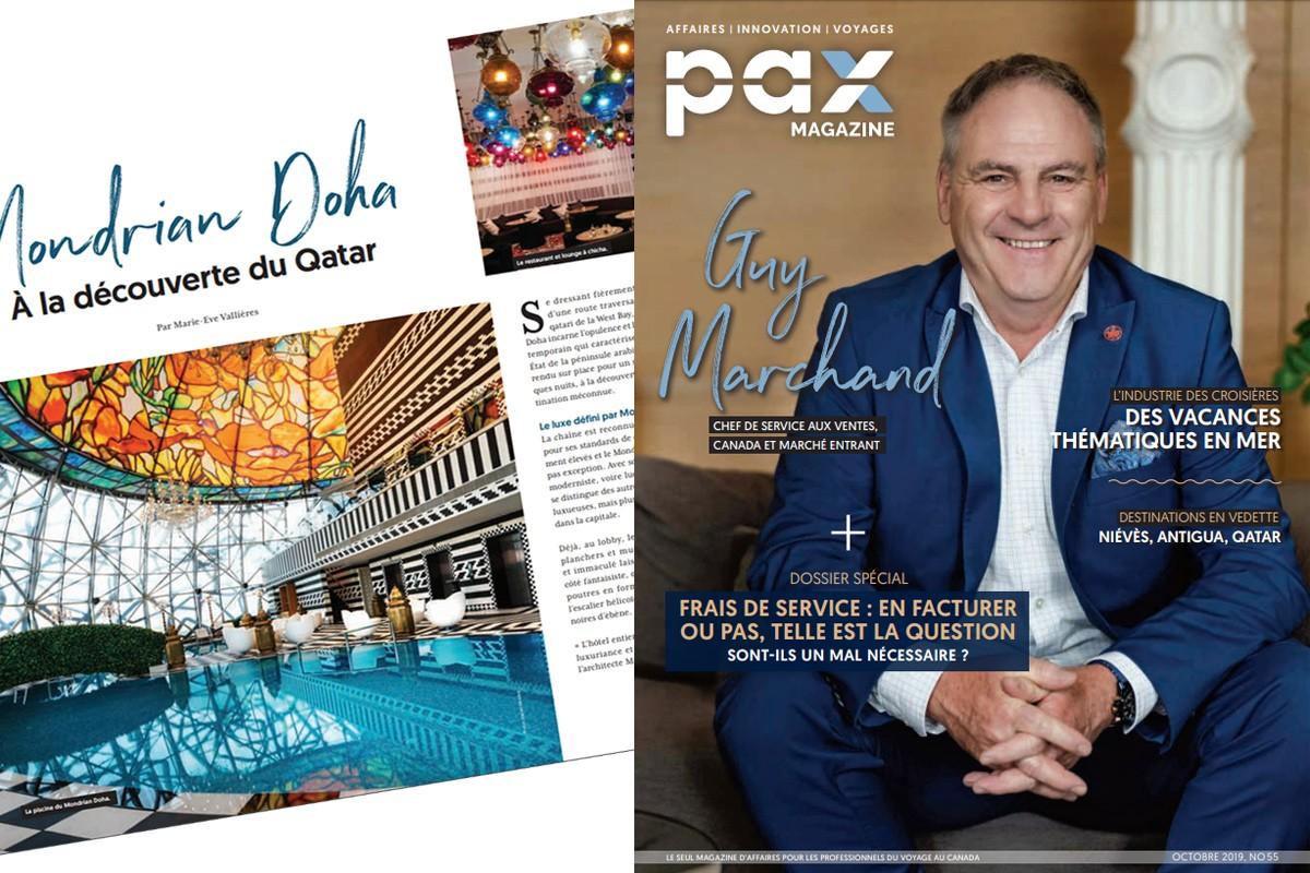 L'édition d'octobre 2019 de PAX magazine est maintenant disponible ! ; EXCLUSIF : Éric Johnston prend sa retraite et l'ATOQ se cherche un DG