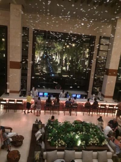 Le lobby-bar de l'hôtel Le Leposan