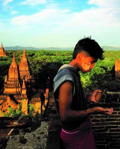 Matin à Bagan
