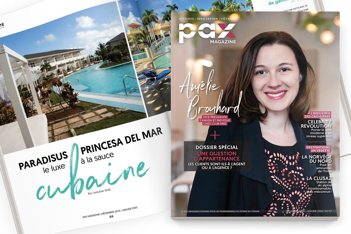 L'édition de décembre 2019 - janvier 2020 de PAX magazine est maintenant disponible ! ; Le Club Med Michès Playa Esmeralda est officiellement ouvert