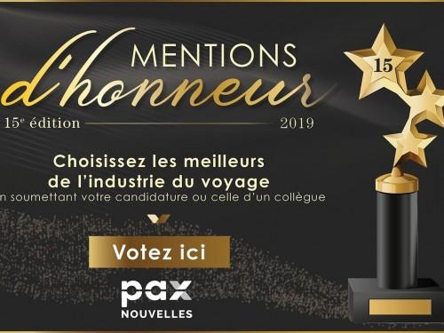 Mentions d'honneur 2019 : n'oubliez pas de voter !