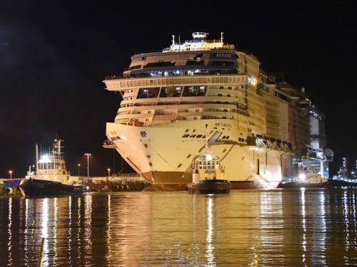 Le MSC Virtuosa mis à l'eau après le récent baptême du Grandiosa