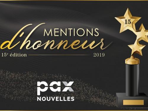 Mentions d'honneur 2019 : les gagnants sont...
