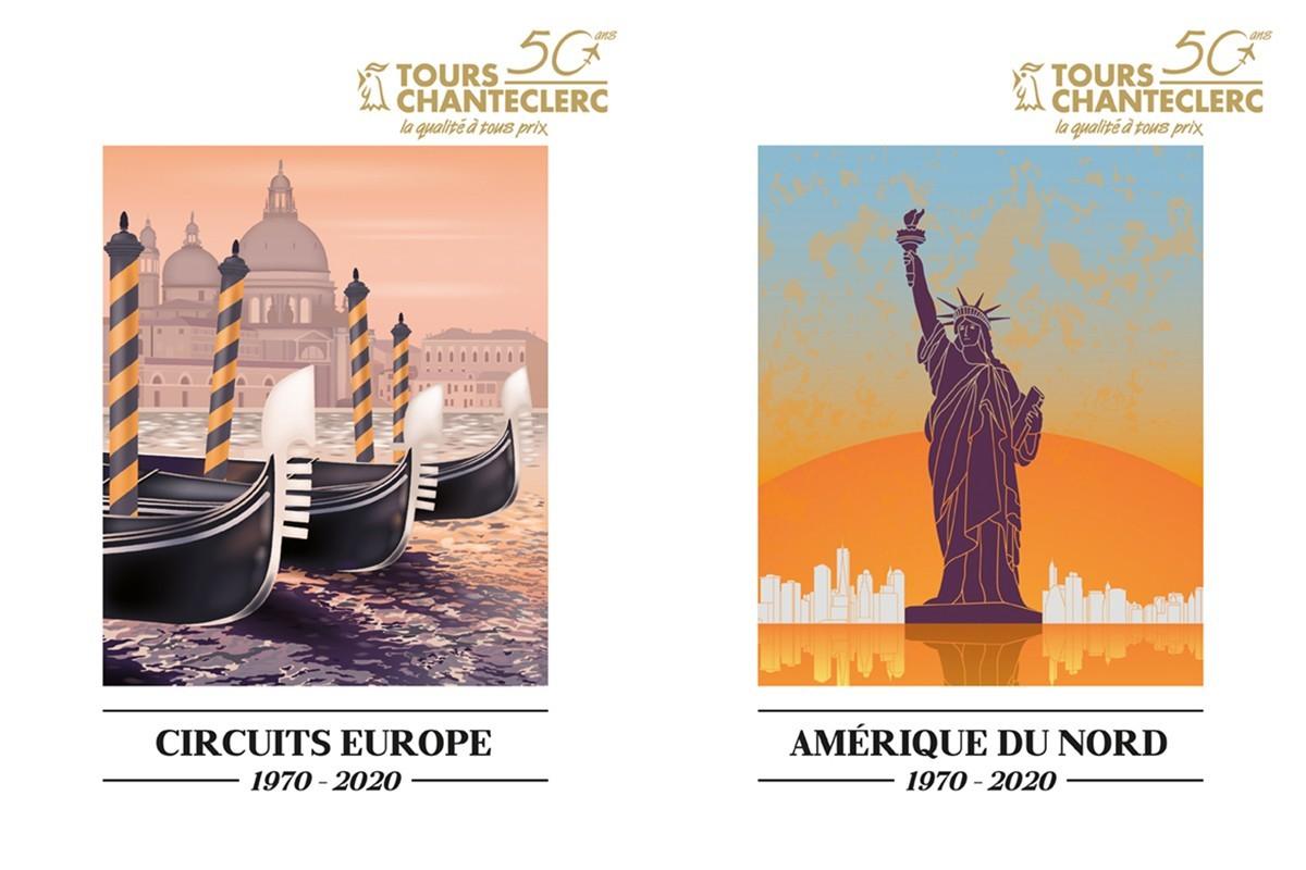 Tours Chanteclerc lance deux nouvelles brochures 2020 : Circuits Europe et Amérique du Nord