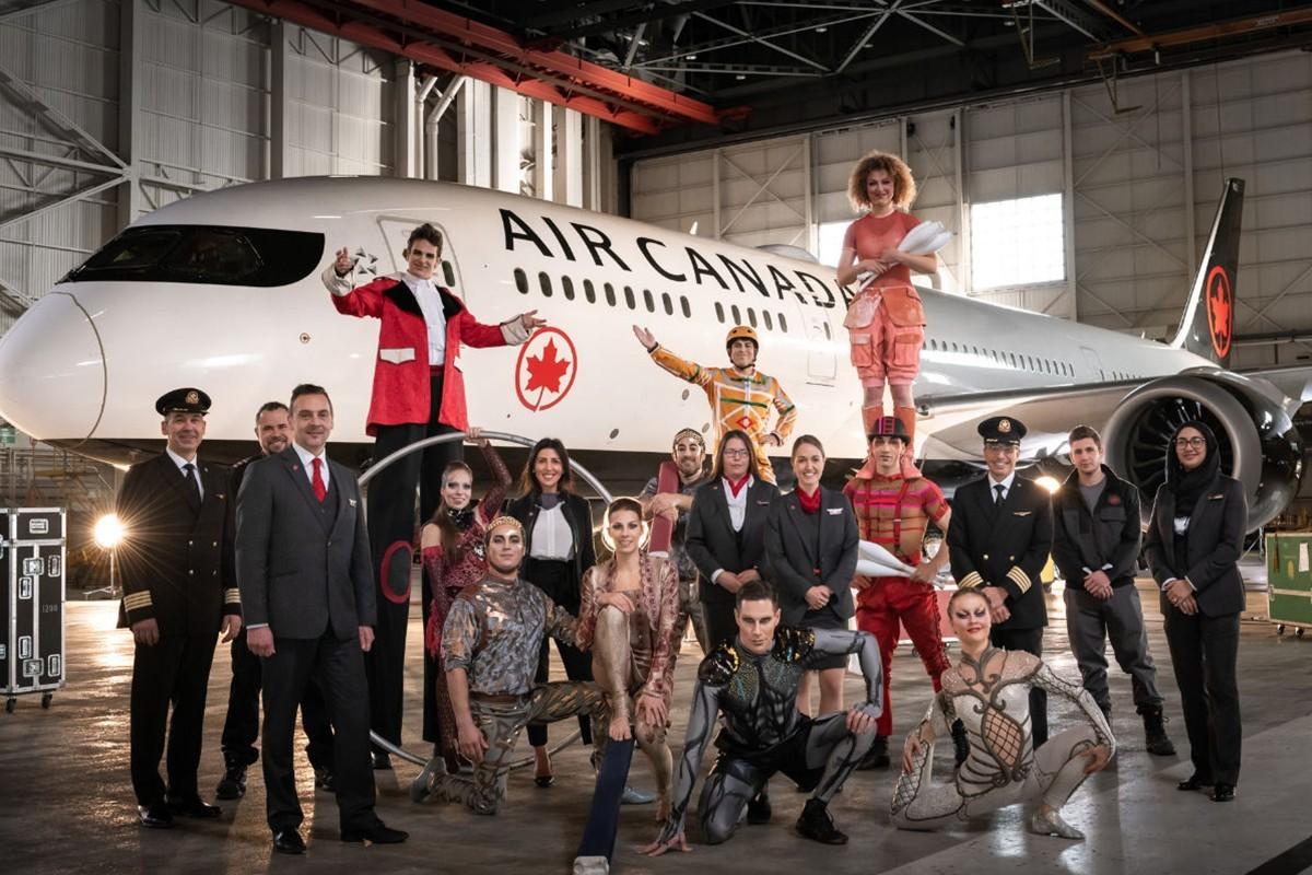 Le Cirque du Soleil prend son envol en signant un partenariat avec Air Canada