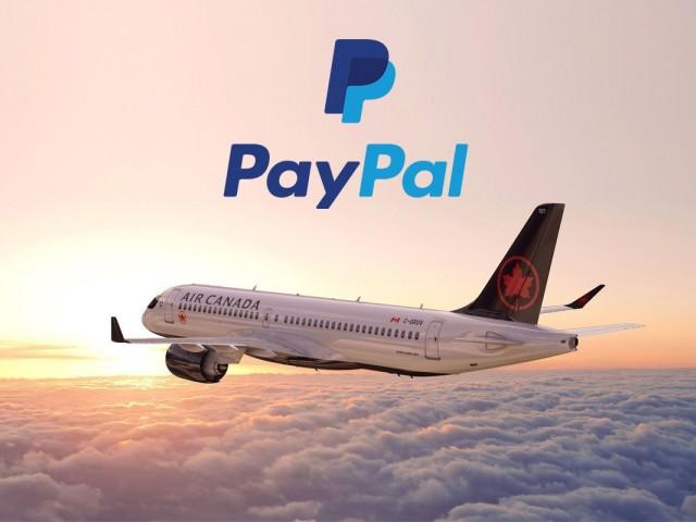Air Canada permet désormais d'acheter leurs billets avec PayPal au Canada