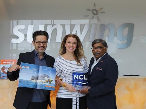 Sunwing nommé meilleur partenaire grossiste/voyagiste canadien par NCL