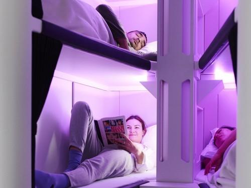 Air New Zealand présente un concept de lits superposés en classe économique