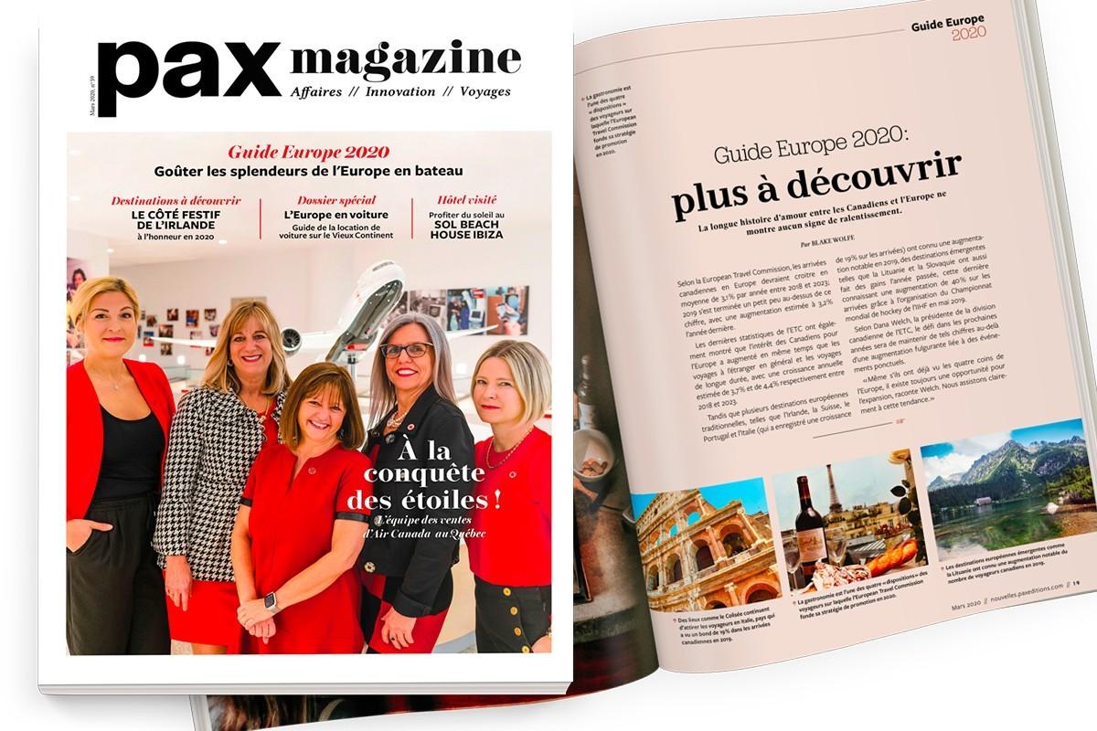 L'édition de mars 2020 de PAX magazine est maintenant disponible !