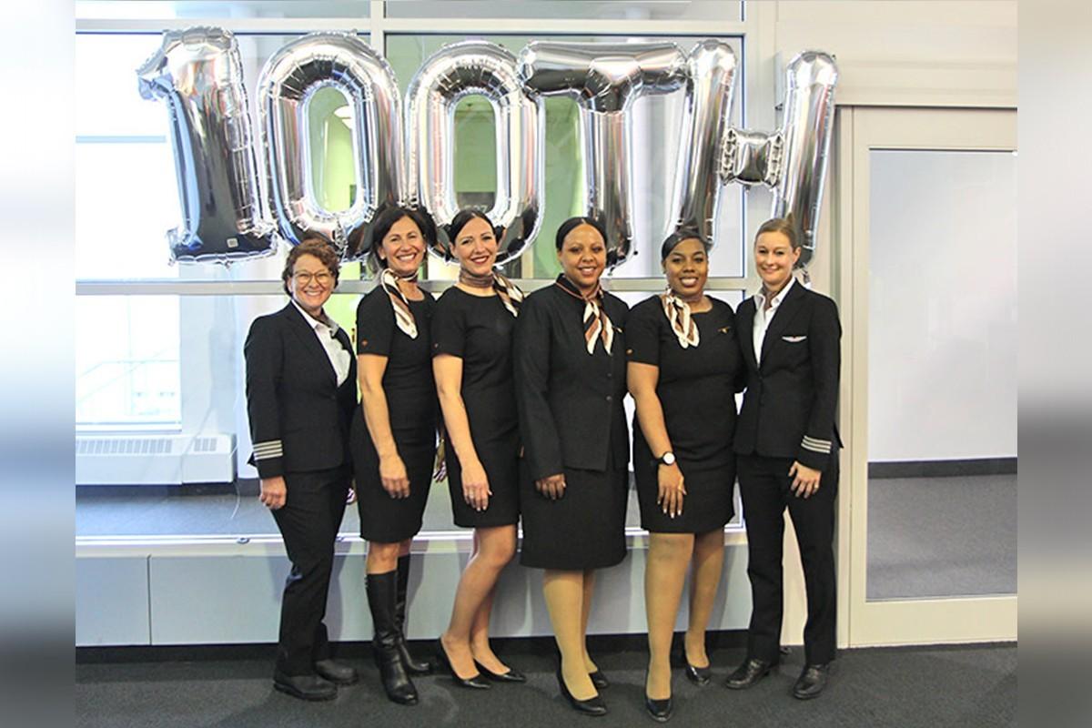 Sunwing : un 100e vol entièrement féminin pour célébrer la Journée internationale des femmes