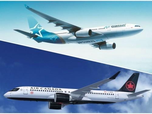 Air Canada et Air Transat continuent leurs vols de rapatriement des Canadiens à l'étranger