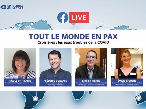 Tout le monde en PAX : Facebook Live sur les croisières dans les eaux troubles de la COVID