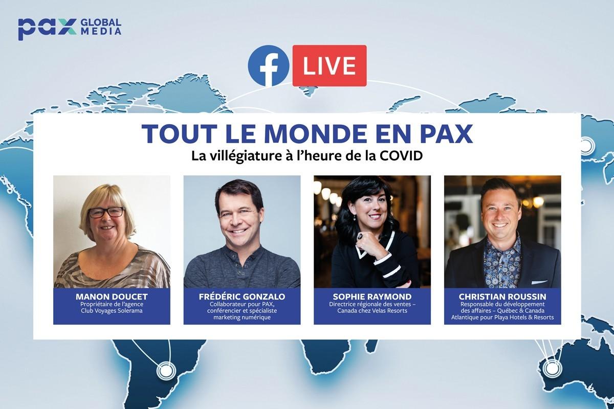 Nouveau Facebook Live « Tout le monde en PAX » : la villégiature à l'heure de la COVID
