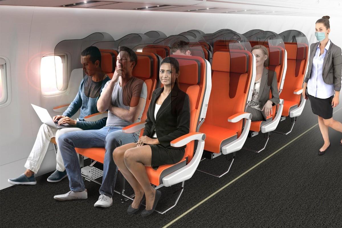 Voici à quoi ressembleront (peut-être) les sièges d'avion après la COVID-19 !
