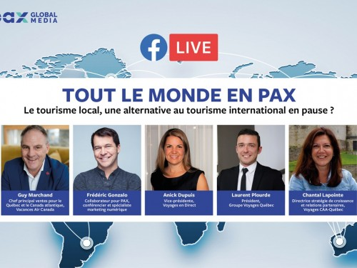 Facebook Live « Tout le monde en PAX » : Le tourisme local, une alternative au tourisme international en pause ?