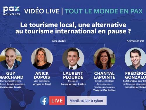 Notre Facebook Live sur le tourisme local remis à mardi, 15h