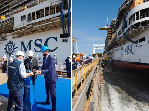 MSC et Fincantieri célèbrent la mise à flot du MSC Seashore