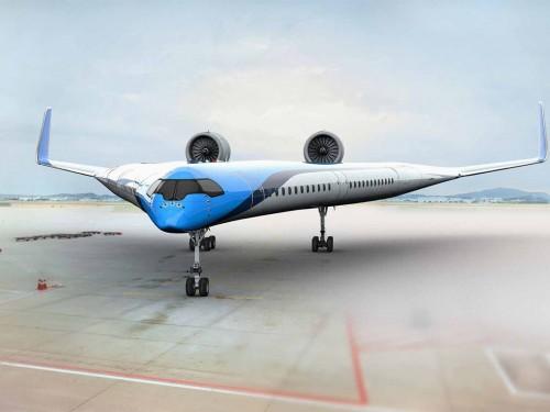 L'avion futuriste « Flying-V » de KLM réussit son premier vol