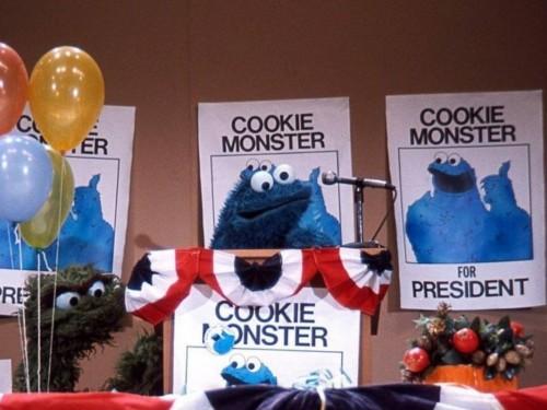 Et le nouveau président est… Cookie Monster !