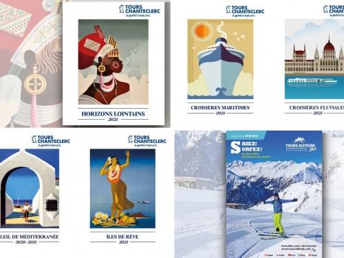 Des brochures très accessibles pour Tours Chanteclerc