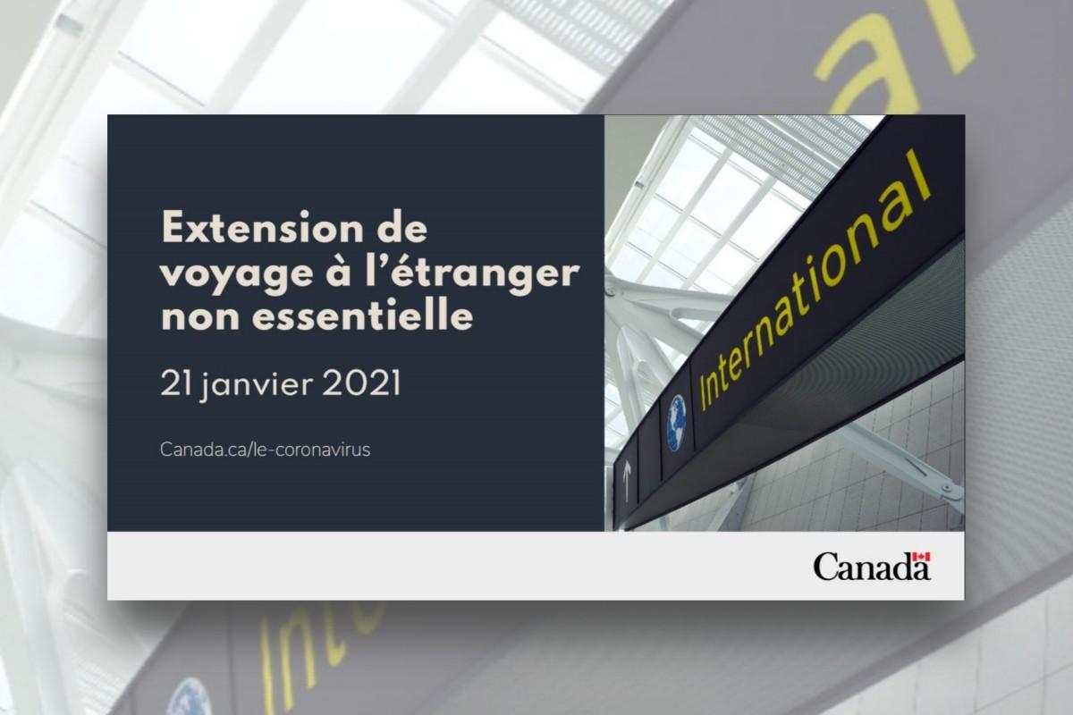 La quarantaine et les restrictions aux déplacements prolongées jusqu'au 21 janvier