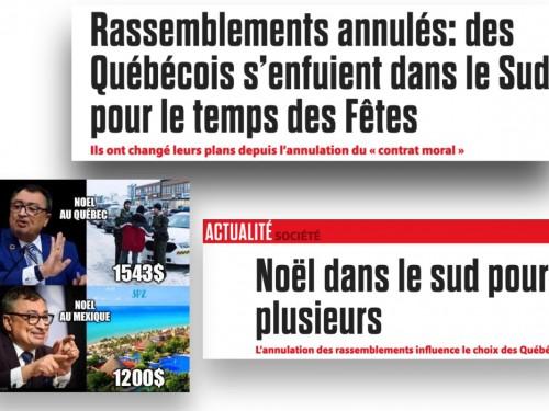 """Selon des reportages, """"les Québécois se ruent sur les voyages au soleil…"""" Mais est-ce vraiment le cas?"""