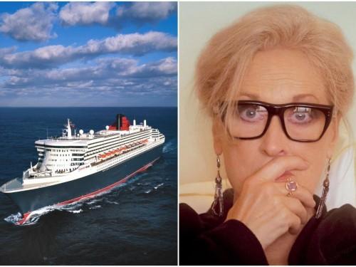 Quand le Queen Mary 2 partage la vedette avec Meryl Streep !