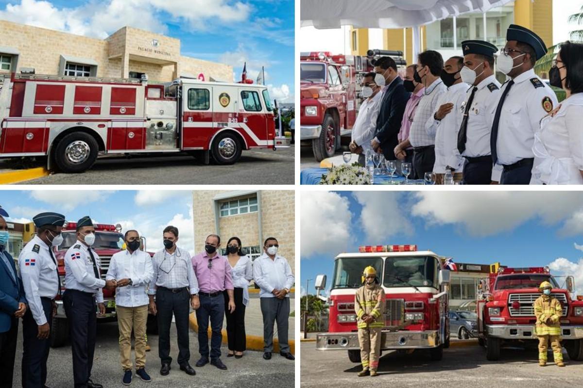 Blue Diamond Resorts offre deux camions de pompiers à Punta Cana