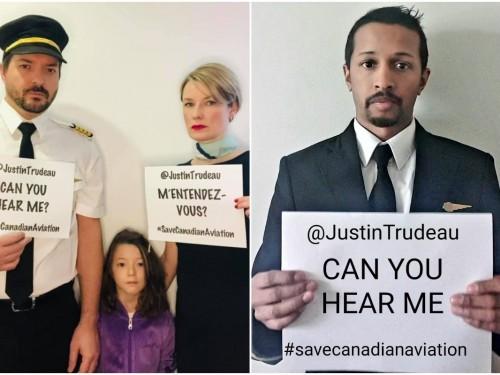 Trudeau, « nous entendez-vous? » Les travailleurs de l'aviation se tournent vers les médias sociaux pour sauver leur industrie