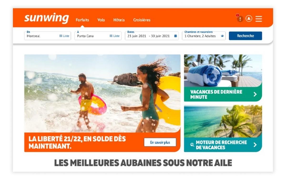 Sunwing lance une nouvelle version de son site Web