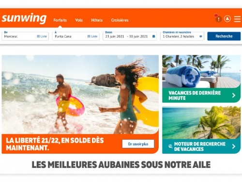 Sunwing lance une nouvelle version de son site Web