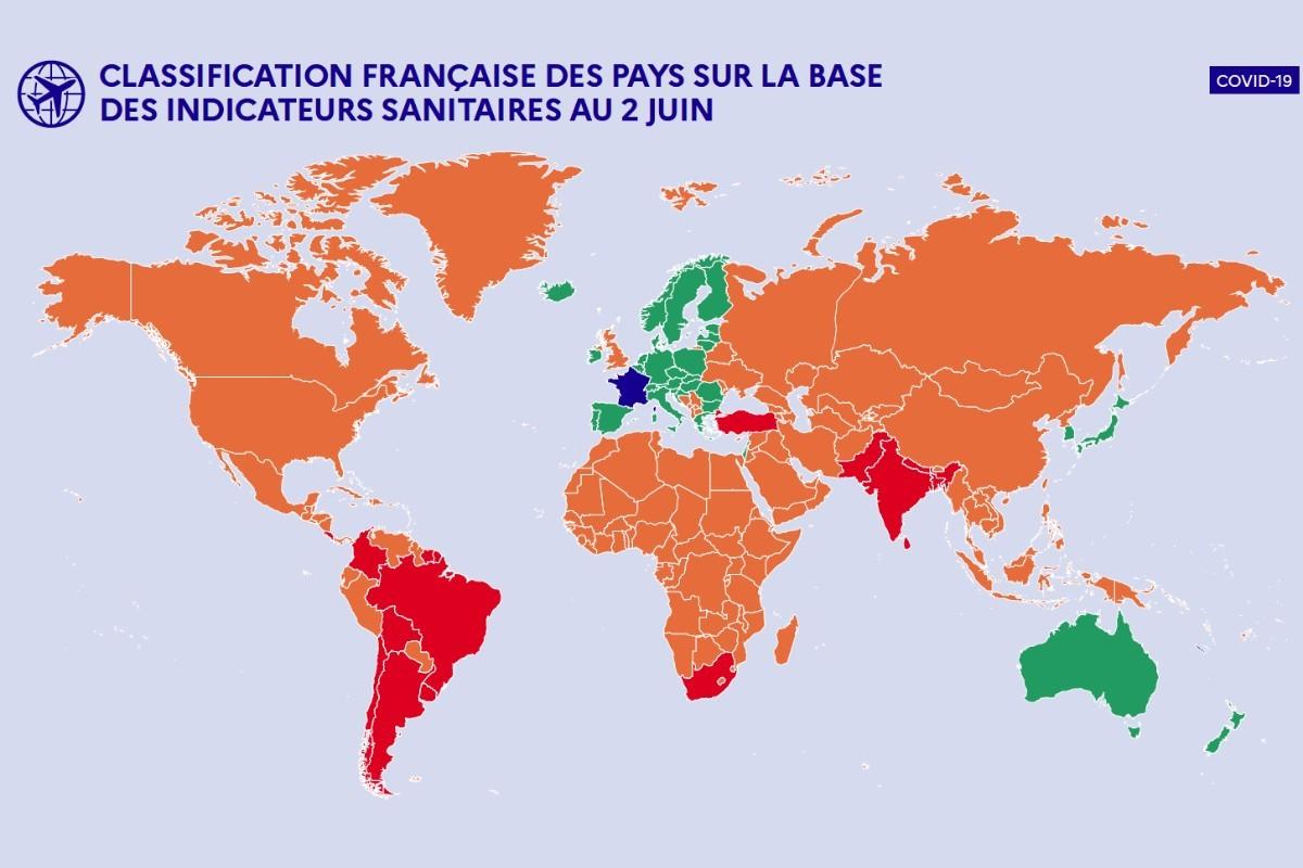 La France publie sa «Stratégie de réouverture des frontières»