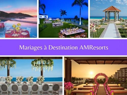 AMResorts : 12 lieux de mariage à découvrir en direct du Mexique Pacifique ce jeudi