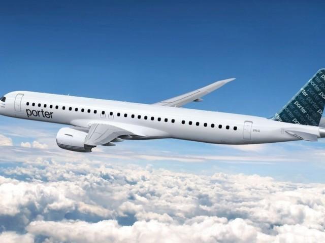 Porter acquiert 80 Embraer E195-E2 pour étendre son service dans toute l'Amérique du Nord
