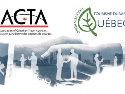 ACTA noue un partenariat avec Tourisme durable Québec