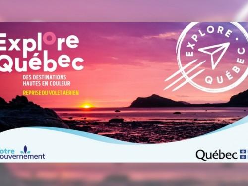 Reprise du volet aérien des forfaits Explore Québec