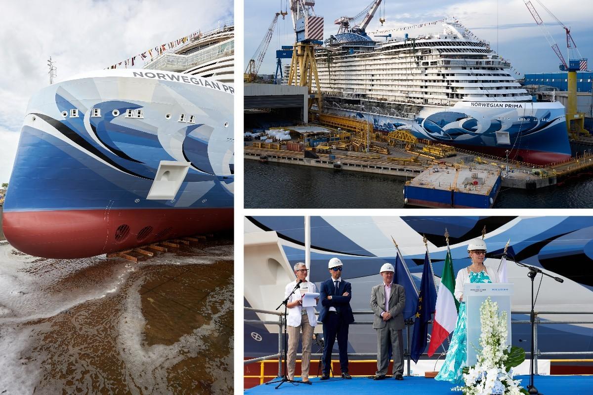 VIDÉO : Le Norwegian Prima a été mis à l'eau !