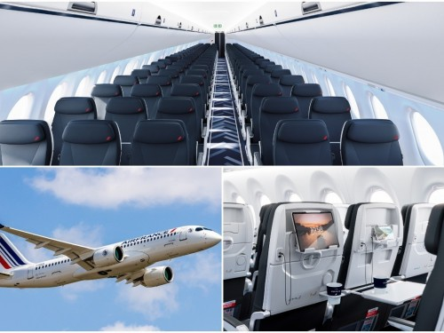 Place au Airbus A220-300, nouveau fleuron du réseau court et moyen-courrier d'Air France [PHOTOS]